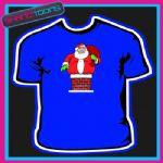 SANTA CLAUS FATHER CHRISTMAS CHIMNEY TSHIRT CHILDRENS MENS & LADIES SIZES